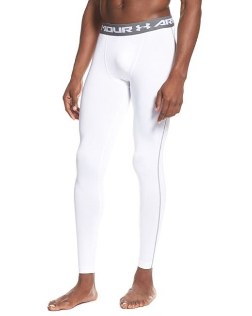 Under Armour | White Heatgear Compression Leggings for Men | Lyst