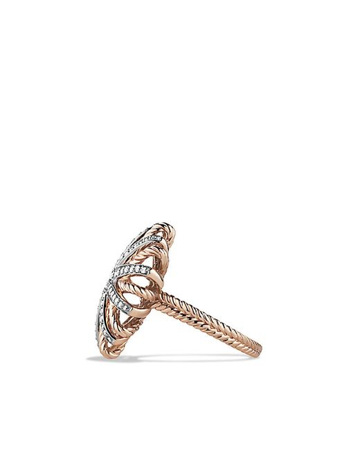 David Yurman | Pink Starburst Ring With Diamonds In 18k Rose Gold | Lyst