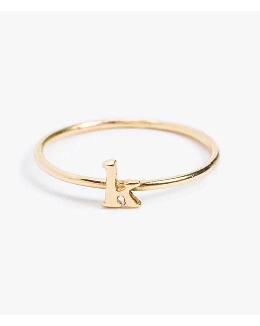 Catbird | Metallic Alphabet Ring 14k Gold | Lyst