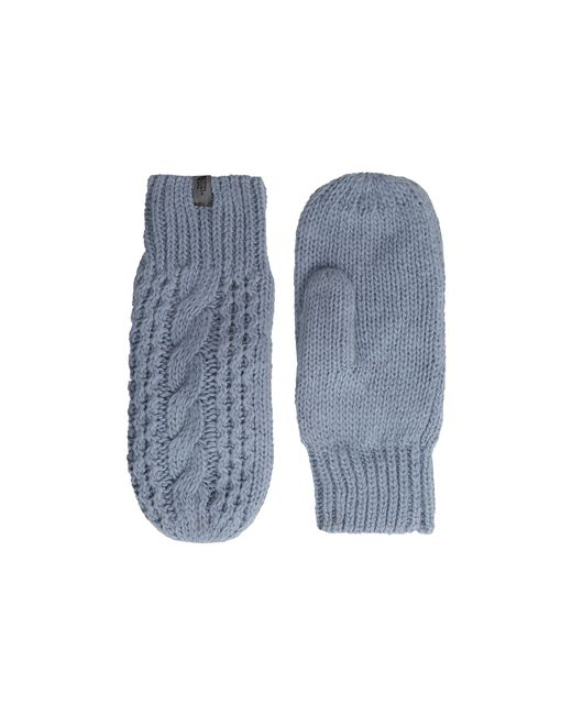 The North Face   Blue Cable Knit Mitt   Lyst