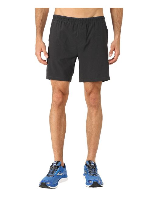 "Brooks | Black Sherpa 7"" Shorts for Men 