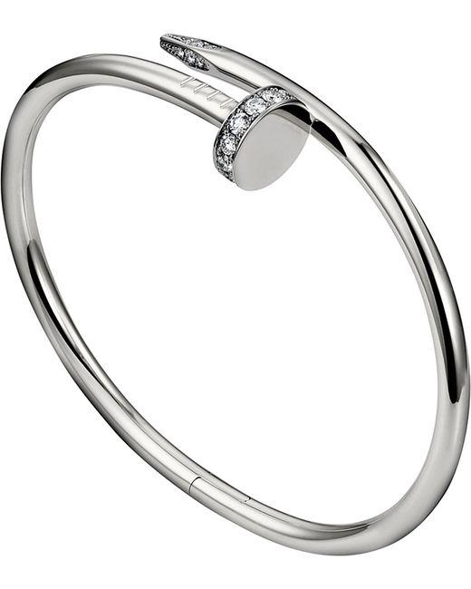 Cartier | Metallic Juste Un Clou 18ct White-gold And Diamond Bracelet | Lyst