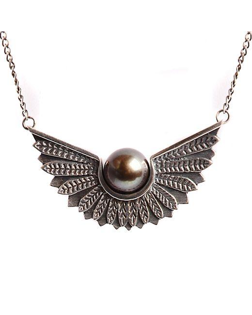 Lee Renee | Metallic Cathy Pearl Necklace | Lyst