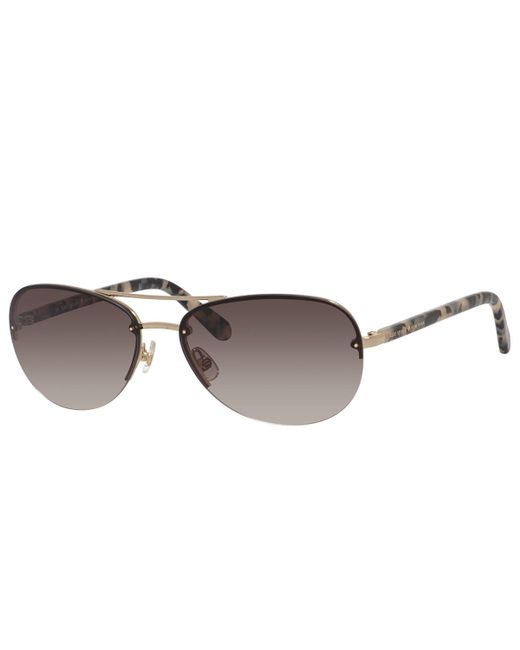 kate spade new york | Metallic Beryl Small Aviator Sunglasses | Lyst