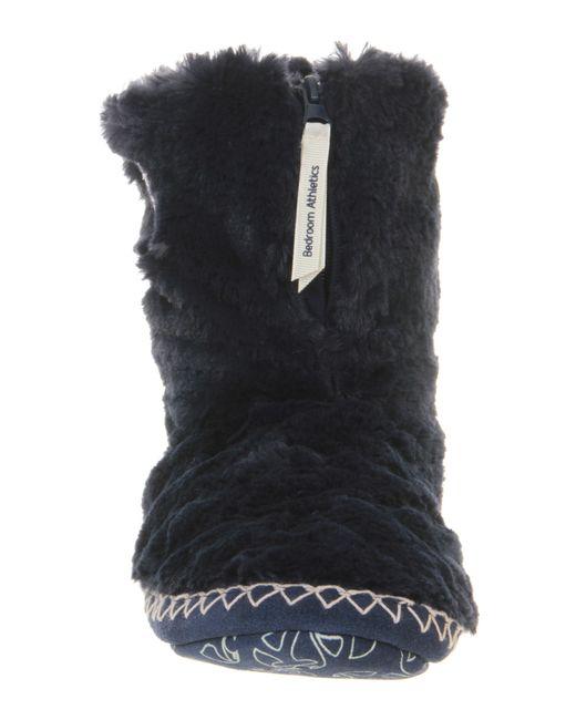 Bedroom Athletics Marilyn Iii Slipper Boots In Black (navy