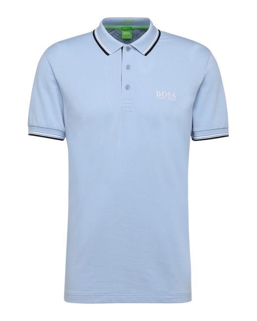 BOSS Green   Blue Plain-coloured Regular-fit Golf Polo Shirt In Piqué: 'paddy Pro' for Men   Lyst