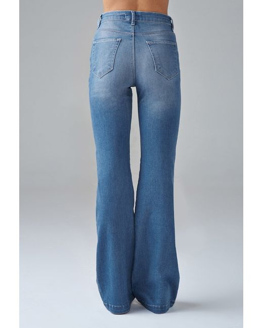 Forever 21 | Blue High-waisted Wide-leg Jeans | Lyst