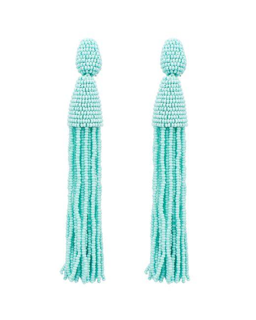 Oscar de la Renta | Blue Classic Long Tassel Earrings | Lyst