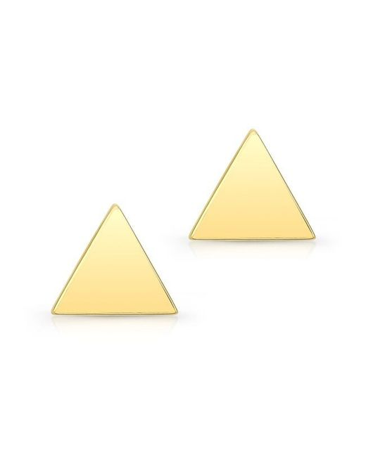 Anne Sisteron - Metallic 14kt Yellow Gold Triangle Stud Earrings - Lyst