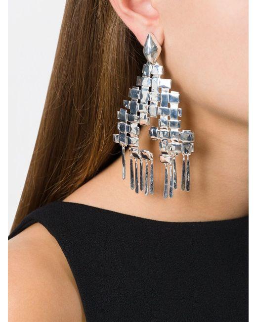 Aurelie Bidermann | Metallic 'marella' Earrings | Lyst
