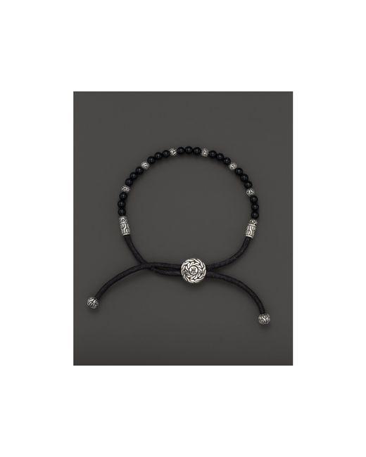 John Hardy | Men's Sterling Silver Classic Chain Beaded Bracelet With Black Onyx for Men | Lyst