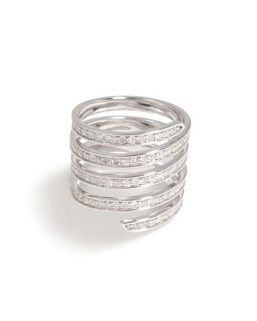 Lynn Ban | Metallic Pavé Coil Ring | Lyst
