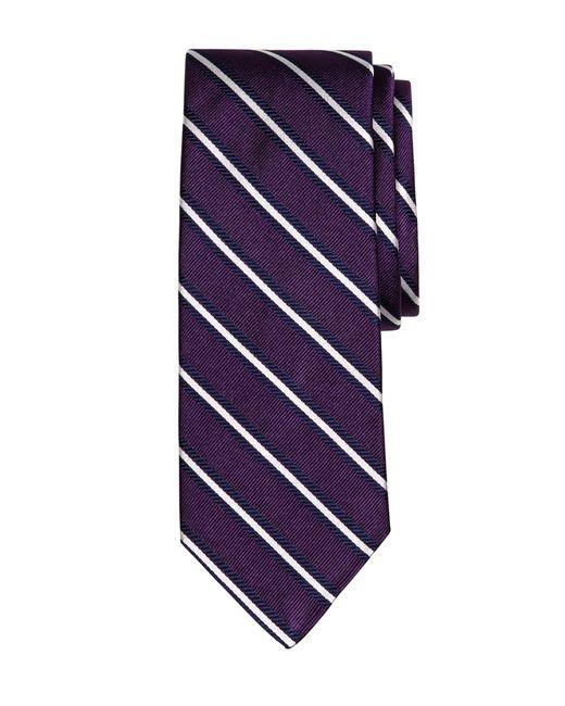 Brooks Brothers | Purple Framed Rep Stripe Tie for Men | Lyst
