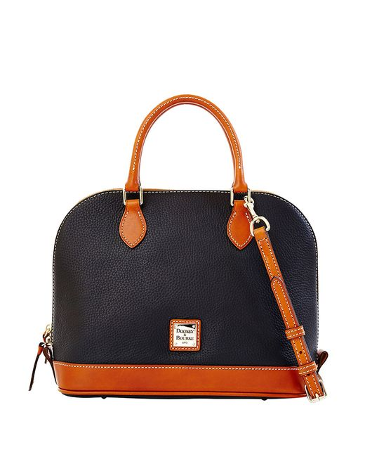 Dooney & Bourke | Black Zip Zip Dome Satchel | Lyst