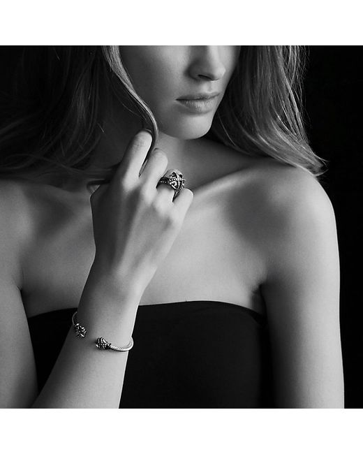 David Yurman | Cable Wrap Bracelet With Black Onyx And Diamonds | Lyst