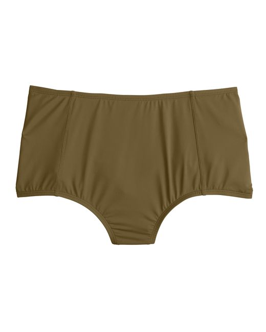 J.Crew | Green High-waist French Bikini Brief In Italian Matte | Lyst
