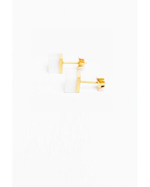 Ming Yu Wang | White Agate Cubic Earring | Lyst