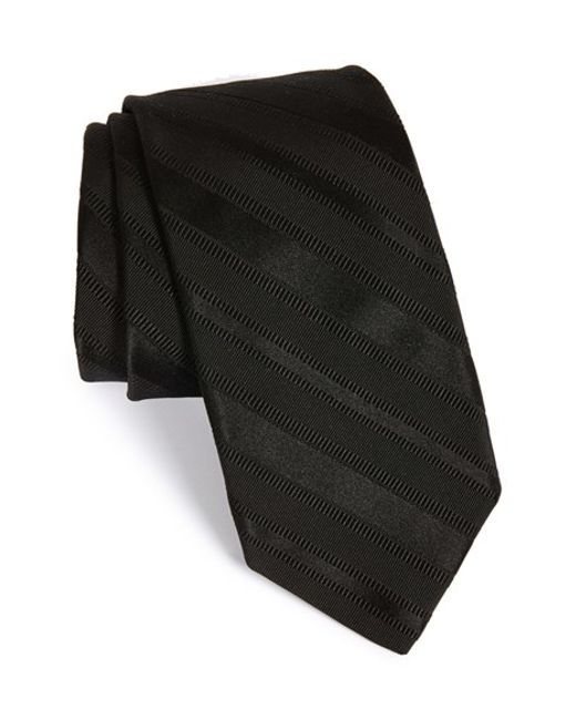 Robert Talbott | Black Stripe Silk Tie for Men | Lyst
