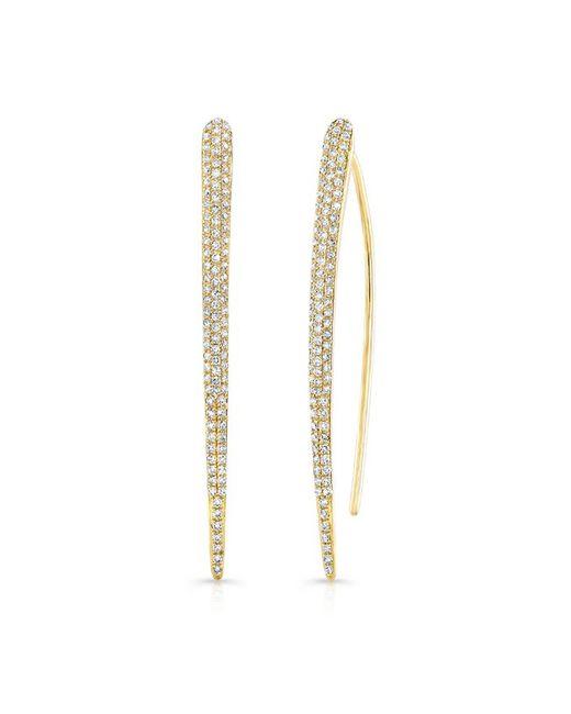 Anne Sisteron | Metallic 14kt Yellow Gold Diamond Luxe Wishbone Earrings | Lyst