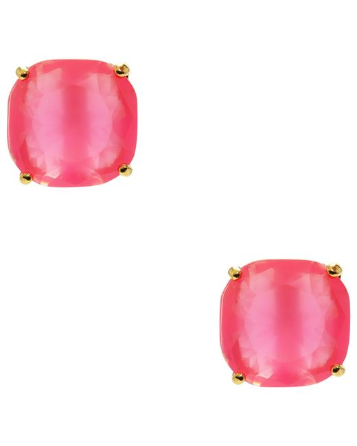 Kate Spade | Pink Mini Small Square Stud Earrings | Lyst