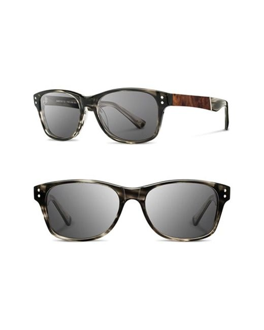 Shwood | Gray 'cannon' 54mm Polarized Acetate & Wood Sunglasses for Men | Lyst