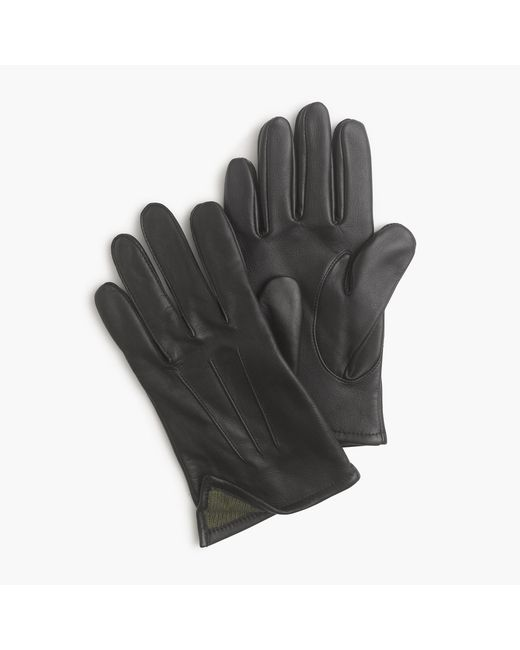 J.Crew | Black Cashmere-lined Leather Smartphone Gloves for Men | Lyst