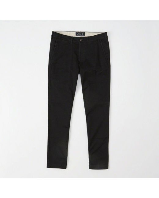 Abercrombie & Fitch - Black Super Skinny Chino Pants for Men - Lyst