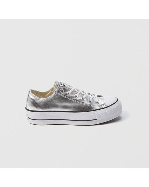 4ebc7d5487b180 Abercrombie   Fitch - Converse Chuck Taylor Metallic Platform Sneakers -  Lyst