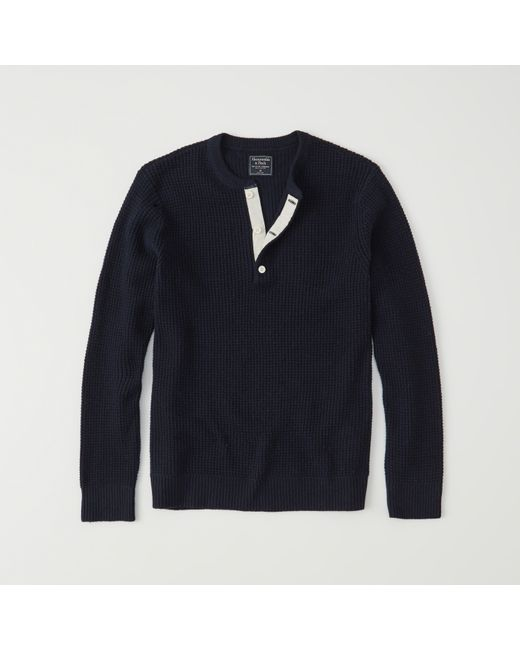 Abercrombie & Fitch | Blue Waffle Henley Sweater Exchange Color / Size for Men | Lyst