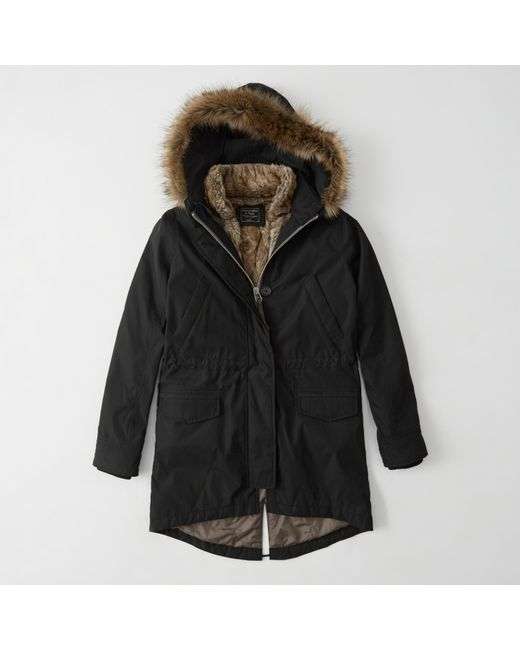 Abercrombie & fitch Faux Fur Military Parka Exchange Color / Size ...