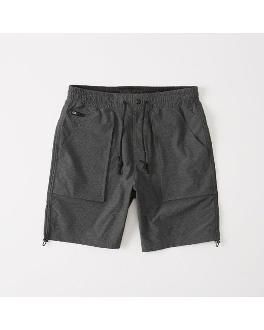 Abercrombie & Fitch - Gray Sport Nylon Shorts for Men - Lyst