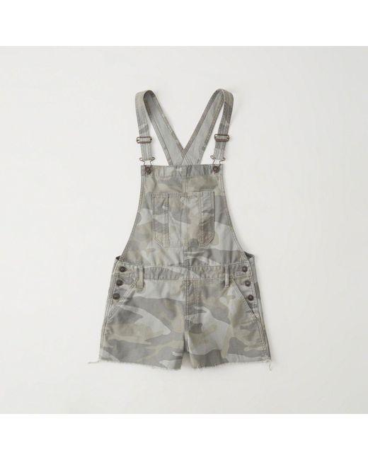 Abercrombie & Fitch - Gray Camo Shortalls - Lyst