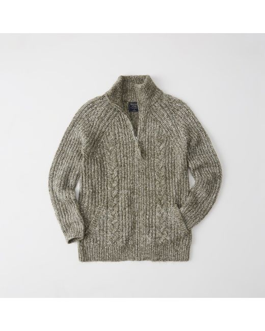 Abercrombie & fitch Zip-up Cable Cardigan Exchange Color / Size ...