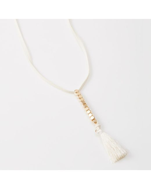 Abercrombie & Fitch | White Delicate Necklace | Lyst
