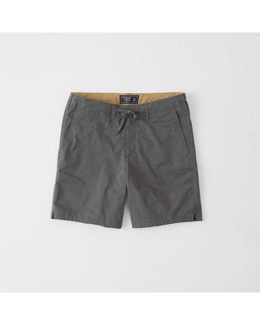 Abercrombie & Fitch - Gray Nylon Running Shorts for Men - Lyst