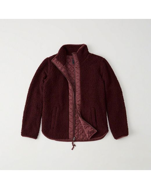 Abercrombie & Fitch - Multicolor Quilted Sherpa Jacket - Lyst