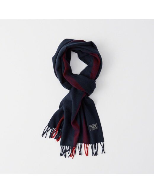 Abercrombie & Fitch - Blue Woven Scarf for Men - Lyst