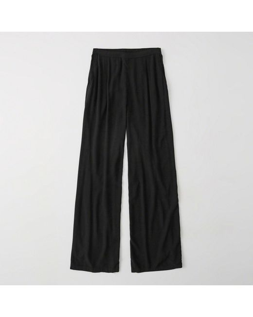 Abercrombie & Fitch - Black High Rise Pants - Lyst