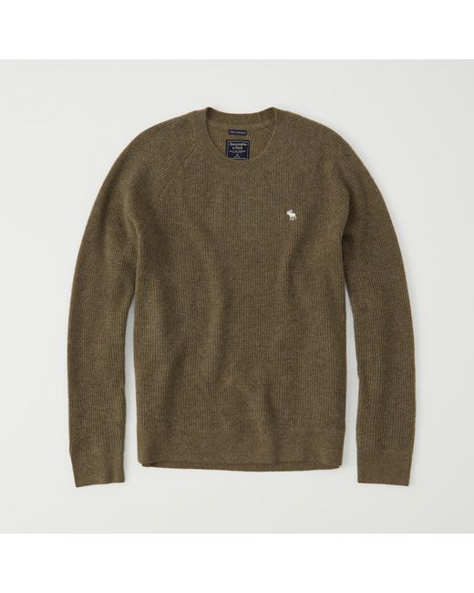 Abercrombie & fitch Icon Cashmere Waffle Sweater Exchange Color ...