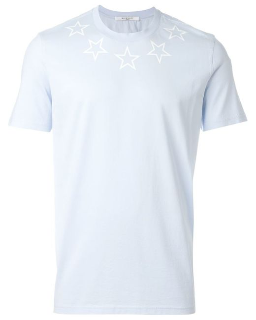 Givenchy star print t shirt in blue for men lyst for Givenchy star t shirt