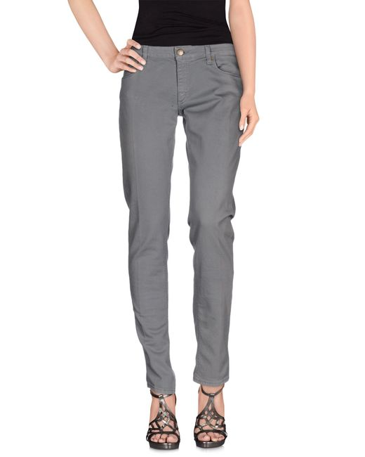 Dondup | Gray Denim Trousers | Lyst