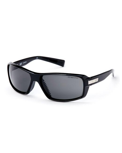Nike Black Ev0608 Rectangular Wrap Sunglasses In Black For