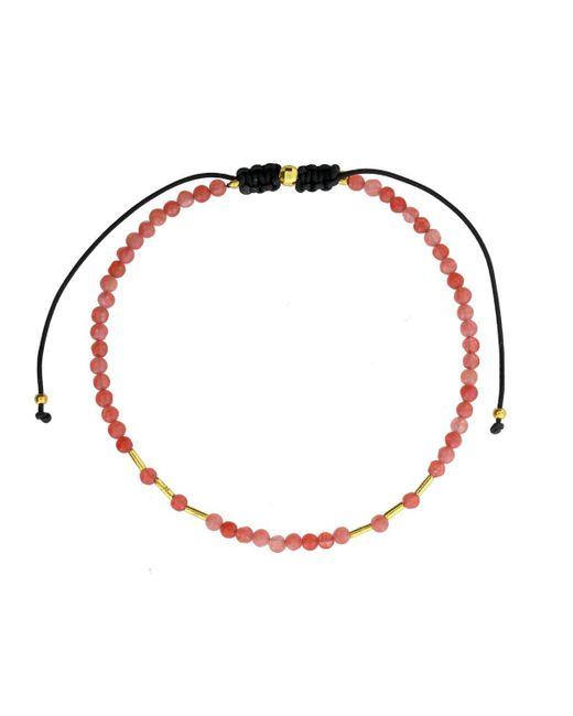 Azendi | Pink Rose Agate Friendship Bracelet | Lyst