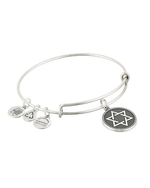 ALEX AND ANI | Metallic Star Of David Charm Bangle Ii | Lyst