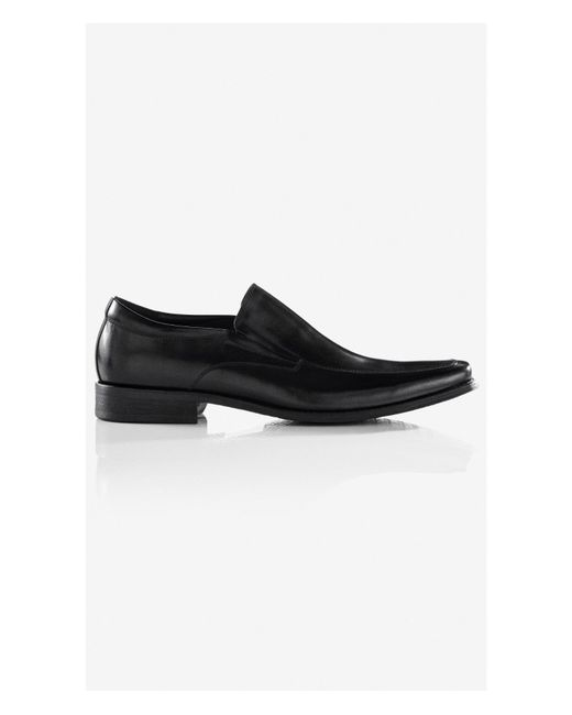 express leather loafer dress shoe in black for lyst