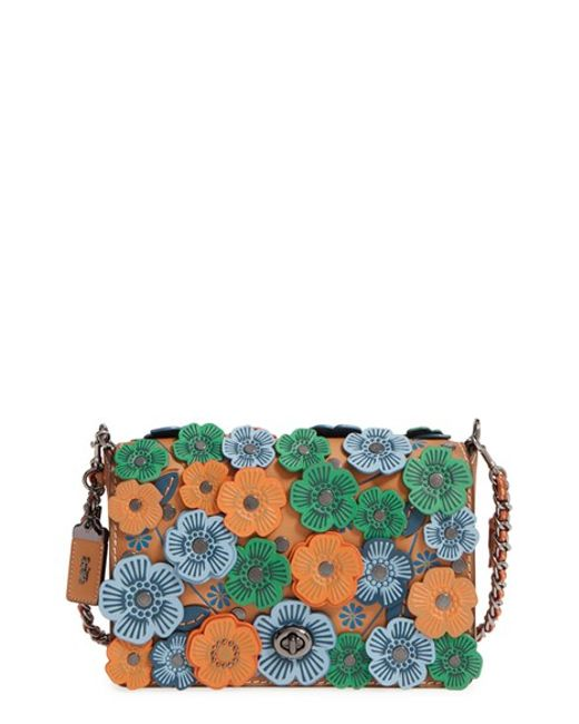 Coach 1941 Dinky Flower Applique Leather Crossbody