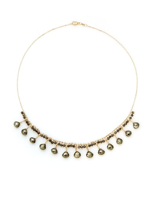 Saks Fifth Avenue | Metallic Pyrite & 14k Yellow Gold Necklace | Lyst