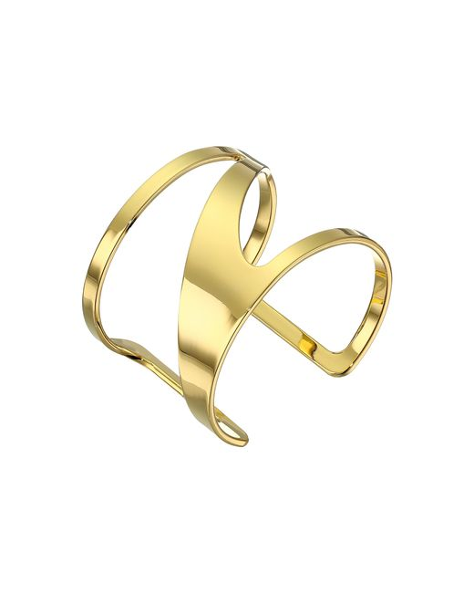 Vince Camuto | Metallic Gold-tone Curved Cut-out Cuff Bracelet | Lyst