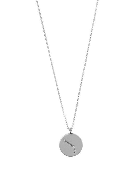 Accessorize - Metallic Platinum Aries Constellation Pendant Necklace - Lyst