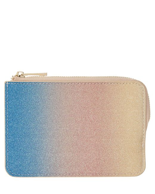 Accessorize - Multicolor Ombre Rainbow Glitter Travelcard Holder - Lyst
